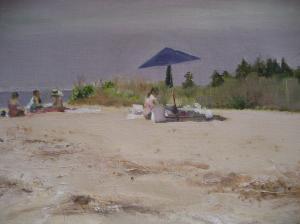Umbrella on the Bay