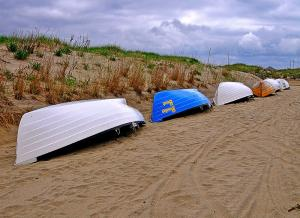 Life Boats On Beach