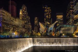 Night at the September 11 Memorial