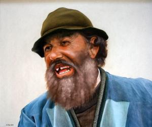 Man in Santorini