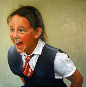 Young School Girl Playing