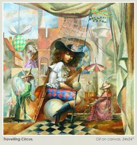 005 val dyshlov painting travelling circus