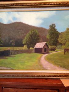 031 kenneth pesile painting cades cove