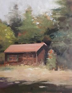 062 anthony migliaccio painting hidden barn