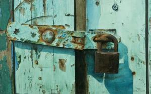 011 frank colaguori painting rusted lock