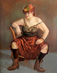 034 barbara grena painting bag lady