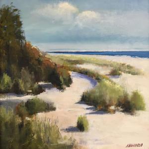 068 Anthony Migliaccio painting sand dunes
