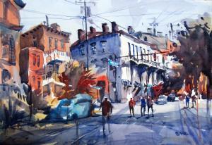 084 debbie redden painting savannah late afternoon