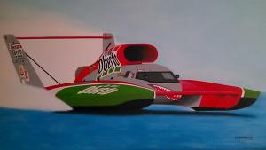 022_painting_f1 hidro power boat!