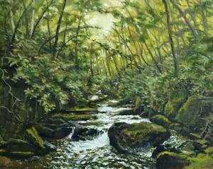 049_painting_mountain stream