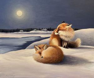 069_painting_snow moon