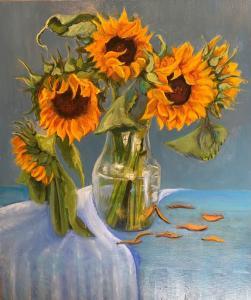 070_painting_ sunflower joy