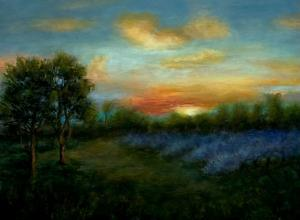 079_painting_the tragedy of sundown in spring