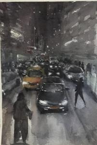 Andree Benoist - Watercolor