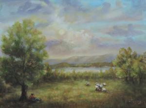 Sheep by Delaware River