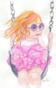 Chloe on the Swing