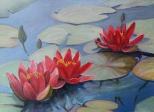 001 karen cohen painting water lilies