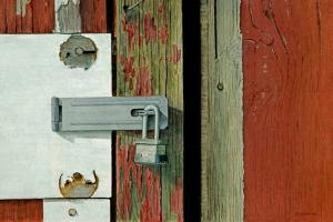 003 frank colaguori painting locked out