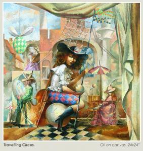 005 val dyshlov painting travelling circus