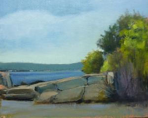 025 anthony migliaccio painting rocks on the bay