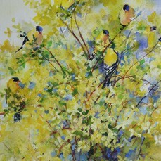 036 muriel rogers painting spring has sprung