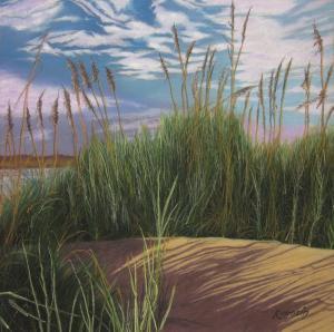 037 harvey rogosin painting on the path to chatham harbor