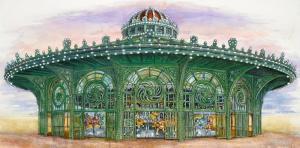 040 michael scherfen painting round n round casino carousel asbury park nj