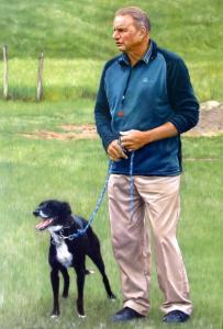 055 shanshun yao painting shepherd and dog