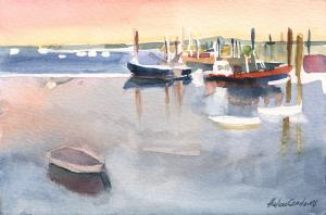 016 helene condouris painting provincetown marina