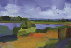 017 helene condouris painting river view