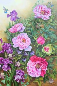 026 pat ellson painting peony garden