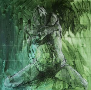 042 pat hutchinson painting green dancer