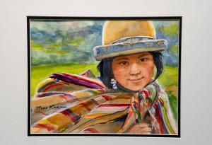 045 mona kirk painting peruvian girl