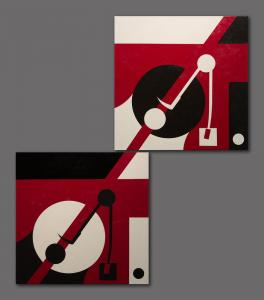 047 david levy painting-dyptych music is in the eye of the beholder 3 and 4