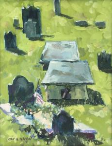 052 christopher mackinnin painting graveyard