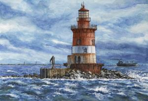084 michael scherfen painting romer shoal light