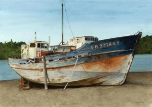 010 frank colaguori painting beached wreck