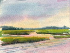 015 helene condouris painting marsh light