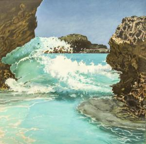 071 thomas nulton painting bermuda wave