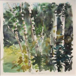 092 elizabeth schippert painting birch woods