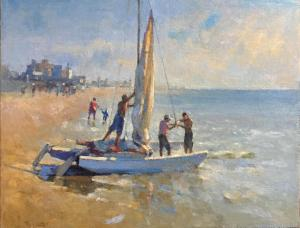 098 yelena snovsky painting ready to sail