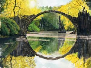 22 stephen gale painting  hobbit crossing