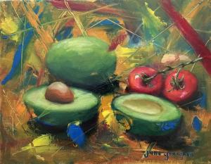 24  jane gavaghen painting  avocado party