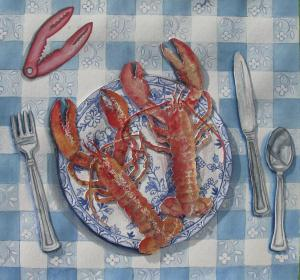 25 maryann goodwin painting  blue plate special