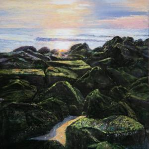 32 lee jamieson painting  on the rocks