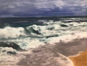 013 mary christensen painting winter waves