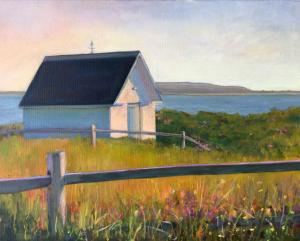 020 helene condouris painting wellfleet late afternoon