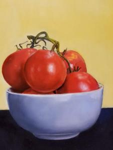 029 ron flannery painting still life with tomatoes