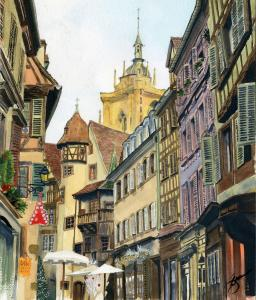 032 stephen gale painting alsatian christmas