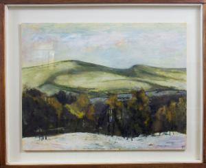 038 guido guazzoni painting slide mountain catskill ny